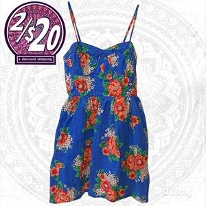 2/$20 Forever 21 Floral Sweetheart Bodice Dress